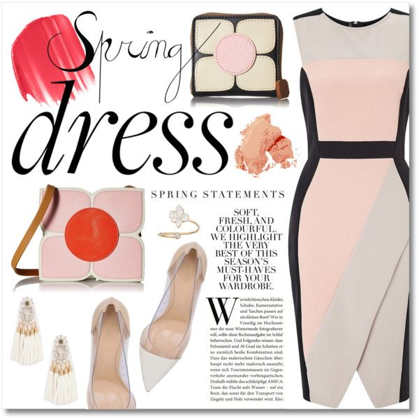 Sweet Spring Dresses by miee0105 on Polyvore featuring Miss Selfridge, Gianvito Rossi, Orla Kiely, LC Lauren Conrad, Urban Decay, Bobbi Brown Cosmetics and Folio