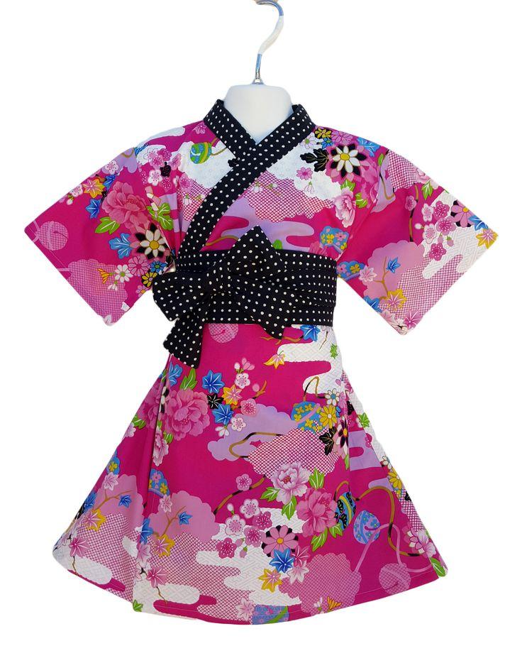 Fuchia Asian Floral Dress