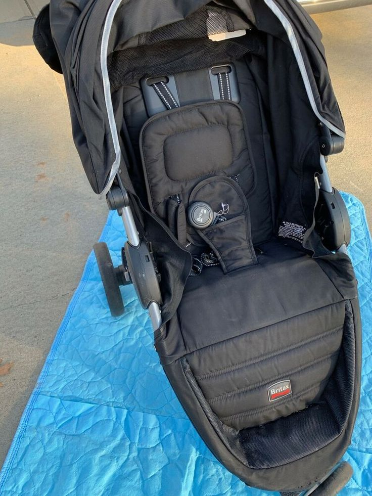 Britax BAgile Stroller in Black with RAIN COVER and