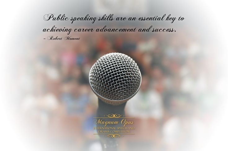 #PublicSpeaking skills are an essential key to achieving #career advancement and #success. – Robert Moment #quote