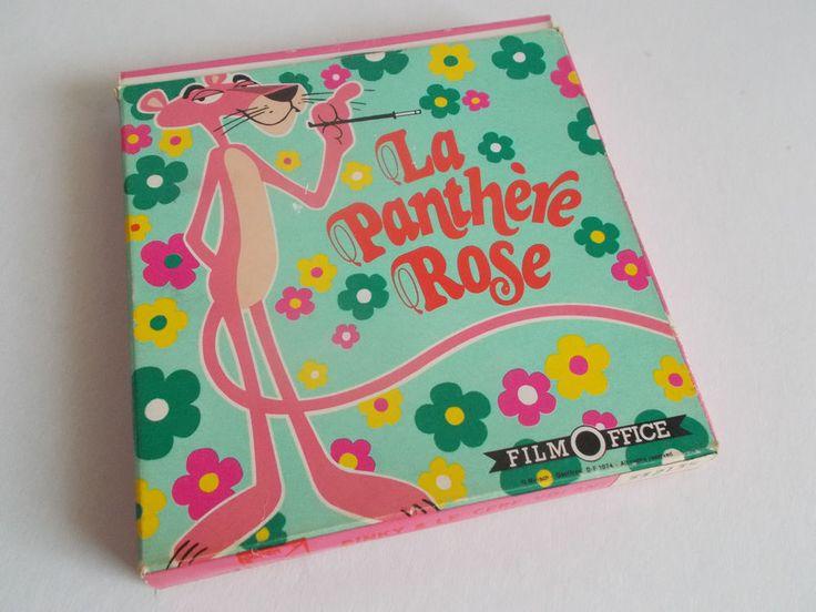 LA PANTHERE ROSE, FILM OFFICE ~LA VIE EN ROSE ~- SUPER 8 COLOUR HOME MOVIE FILM