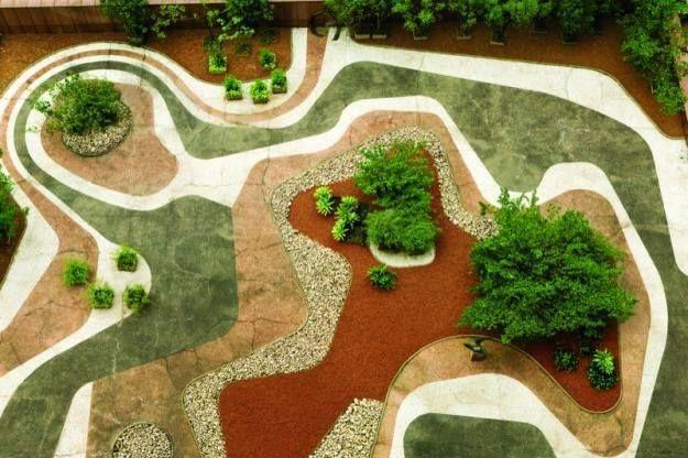 Jardim suspenso do Banco Safra, SP (Roberto Burle Marx)