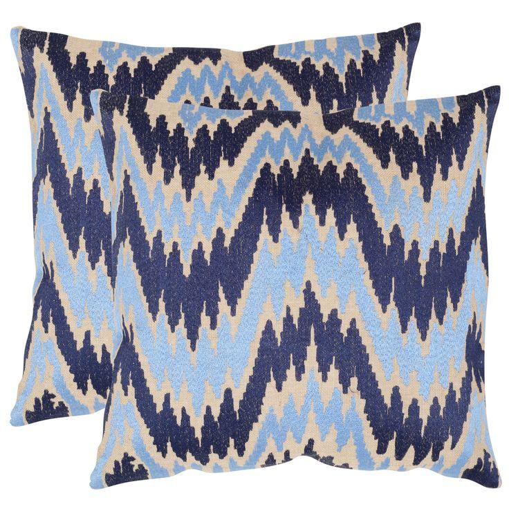 Modern Sofa Safavieh Adam Indigo inch Square Throw Pillows Set of Overstock