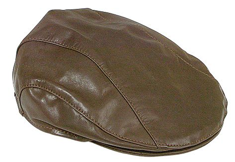 2500 Kangaroo Drivers Cap Brown. Genuine Kangaroo Leather Drivers Cap by Jacaru.