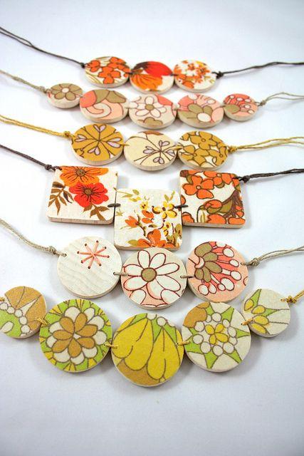 SpringYellows | Flickr - Photo Sharing! #vintagefabric #upcycle