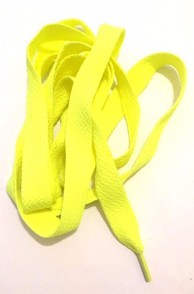 Thick 50in FAT LACES  Neon Yellow Color cool thick fat shoe laces refresh yours #hiphop