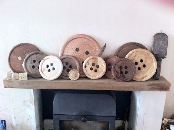 Big Beautiful Handmade Wooden Buttons  Turned on by KealConcepts  I need these!