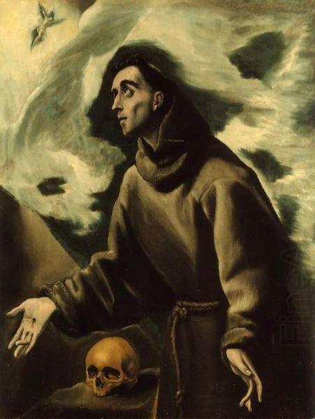 El Greco: Franciscus ontvangt de wondtekenen.