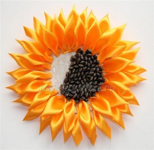 Materiales gráficos Gaby: Corona de girasoles en cintas y café