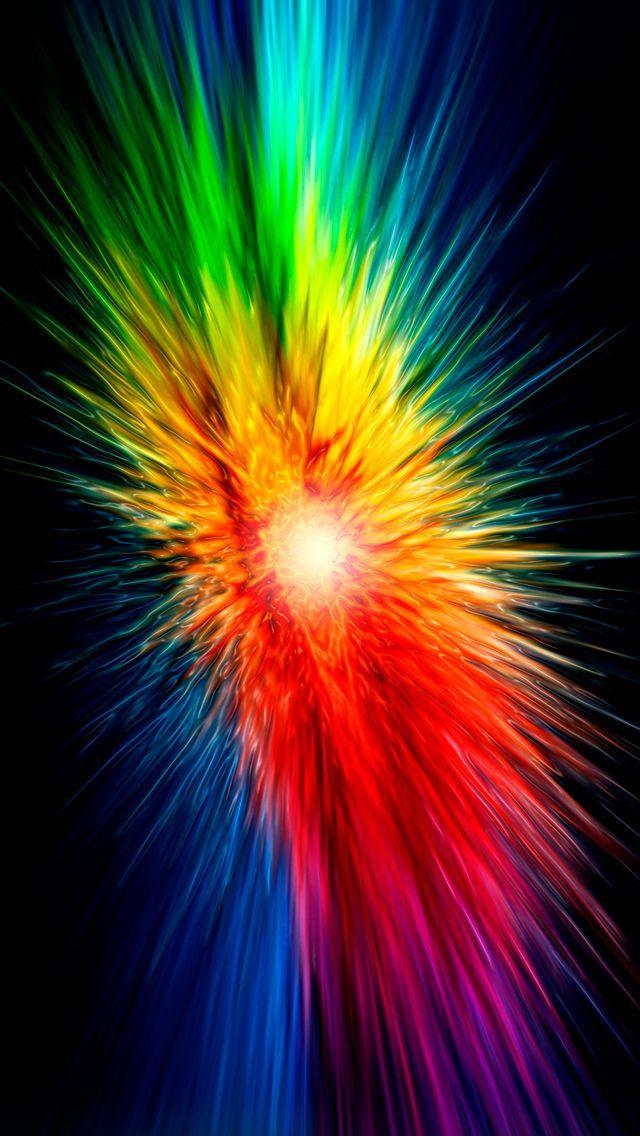 Rainbow Splash Color Explosions Color Splash Wallpaper Rainbow