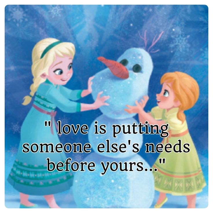 Love Is Quotes: Frozen Quotes :)