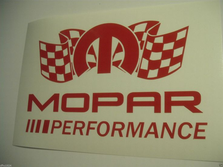 Mopar Dodge Performance Racing Logo Red Gloss Vinyl