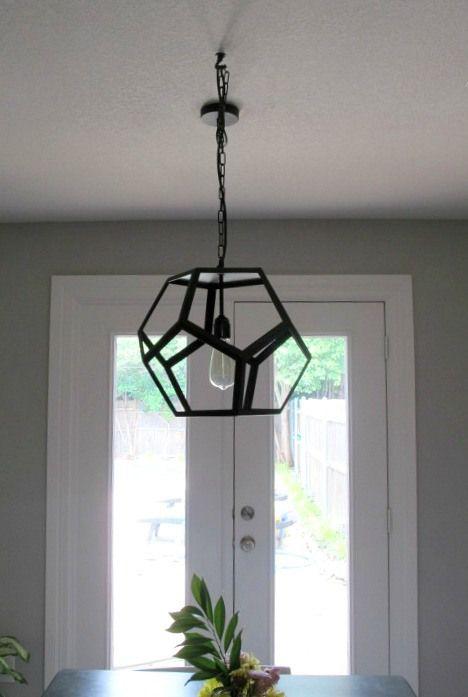 How To Swag A Pendant Light Fixture. The Hexagon Black Metal Pendant From  World Market. | DIY U0026 Decor Inspiration | Pinterest