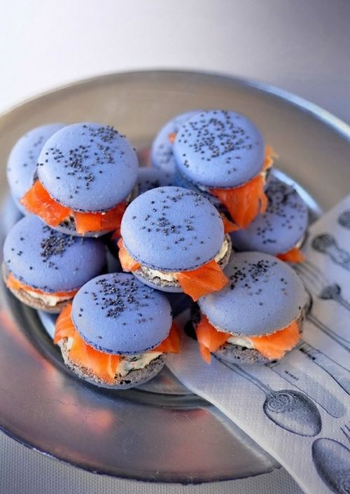 Savory Salmon Macaron?? I guess I'll have to try it to understand it