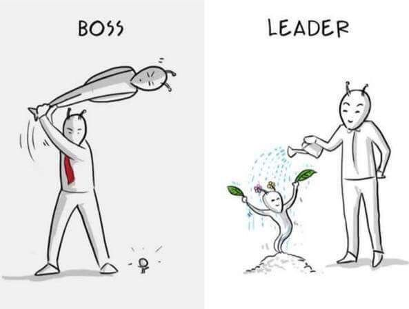 Boss vs leader series - picture 4 Infographics \ Quotes - line leader