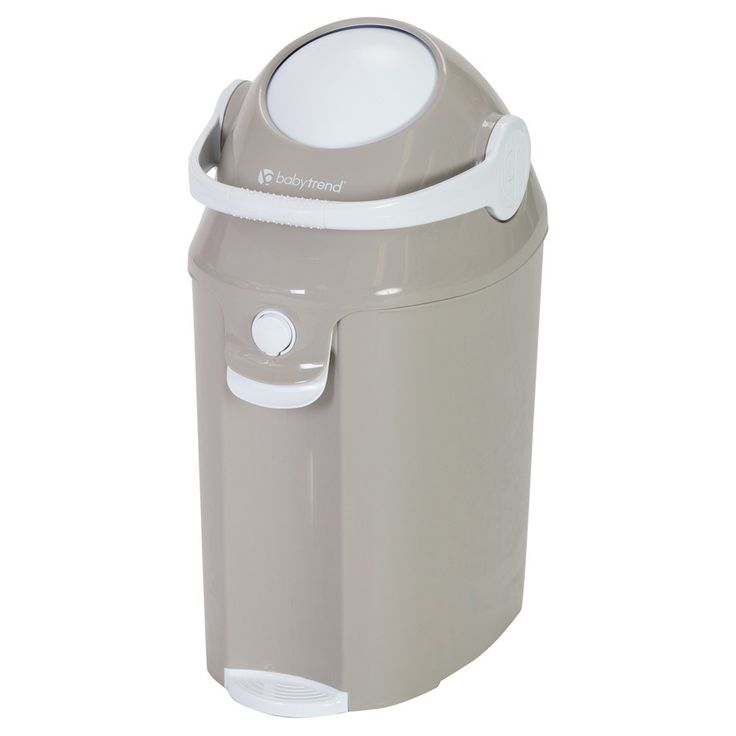 Baby Trend Diaper Champ Deluxe Diaper Pail - Teeny Tiny Taupe (Brown)