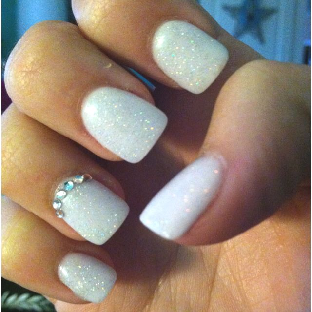 Love the white + glitter... and of course BLING!!