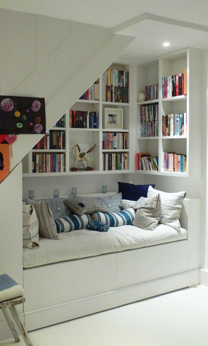 stairway storage ideas | ... , and White Wall - Creative Under Stair Storage Shelf Design Ideas