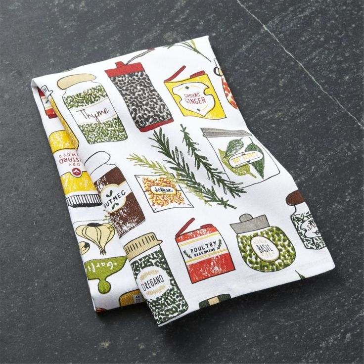 Spice World Dish Towel   Crate and Barrel