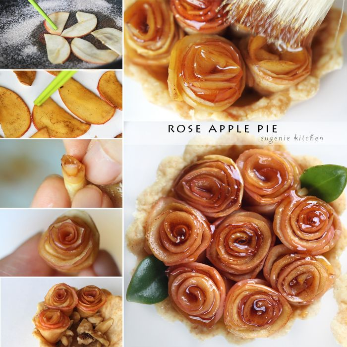 Someday, I must make these beautiful apple pies for a tea party!  Don't they look wonderful?