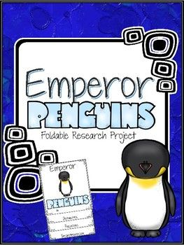 The Emperor Penguin Research Foldable is one mini-lesson in a series of Penguin research projects. Students may choose from six websites to research and take notes. Using the notes from student research, students write a report using the cutest foldable.