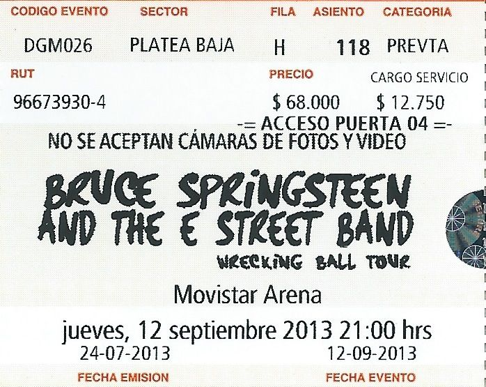 Bruce Springsteen - Live in Santiago, Chile 12-09-2013