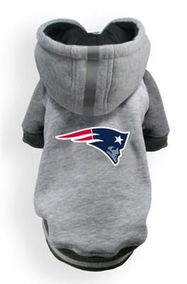 New England PATRIOTS NFL dog Helmet Hoodie in color Athletic Gray