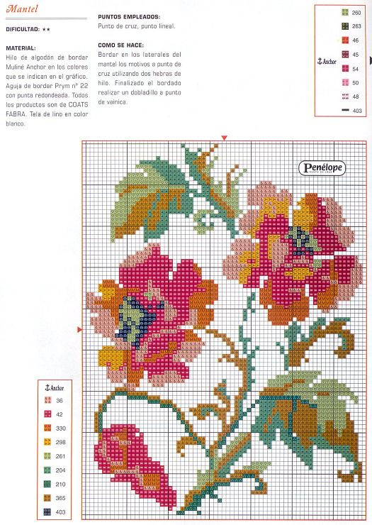 Poppy cross-stitch pattern