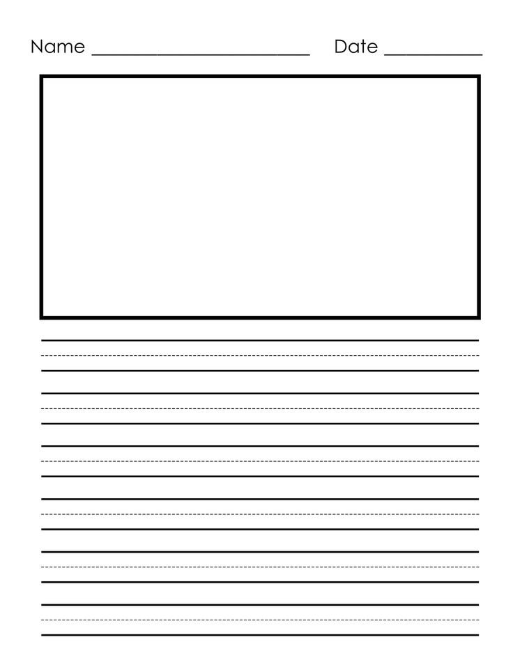 Writing Paper For First Grade With Picture Box