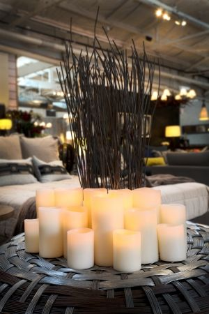 Enjoy Lighting Flameless Candle on Ottoman - Complete Pad