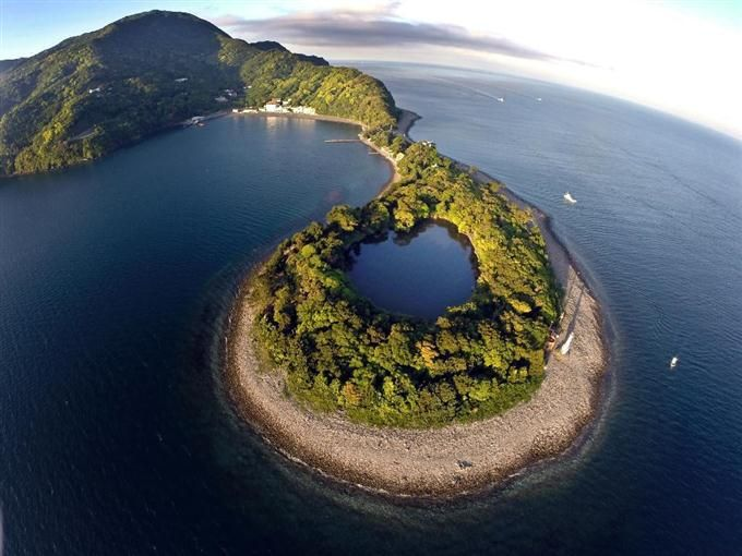 Japan - View Mysterious freshwater surrounded by the sea Kamii in Numazu City, Shizuoka prefecture