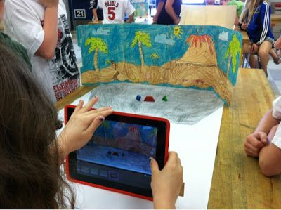 """Project with """"Stop Motion"""" app... Good project for teams and older kids"""