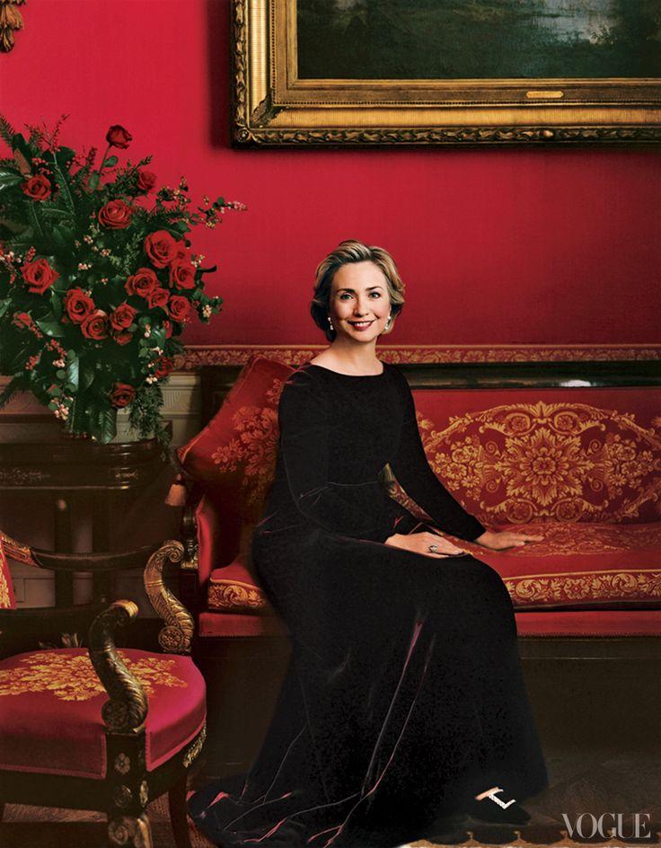 Annie Leibovitz photo of First Lady Hillary Clinton - Vogue December 1998.