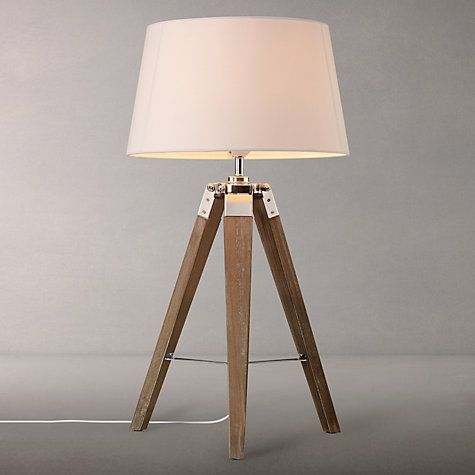 John Lewis Amp Partners Jacques Dark Wood Table Lamp Brown