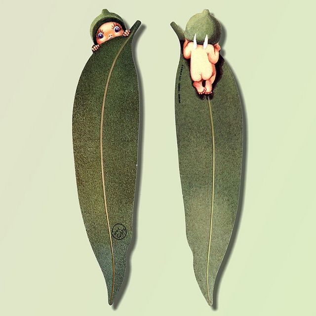 Gumnut Baby Bookmark  - artwork by Cecilia May Gibbs