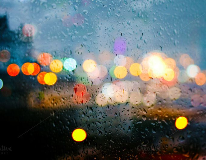 Bokeh In The Rain I by designmeahuman on Creative Market