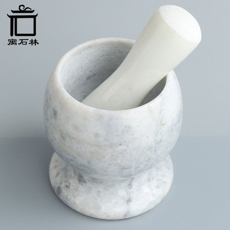Details about 1.5KG Marble Stone Kitchen Mills Garlic Press Mills Kitchen Minced Tool Mortar
