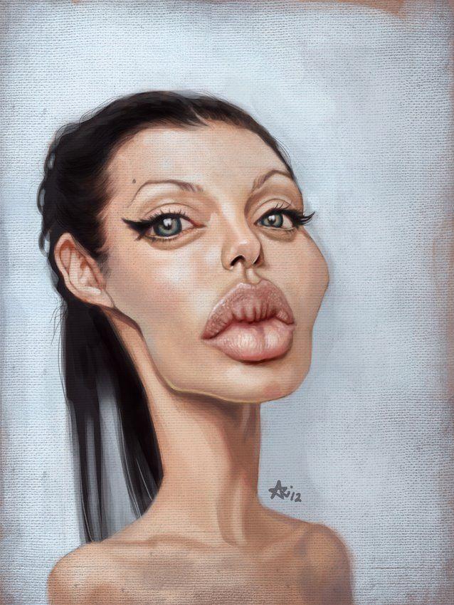 Ariel Medel - Caricature of Angelina Jolie