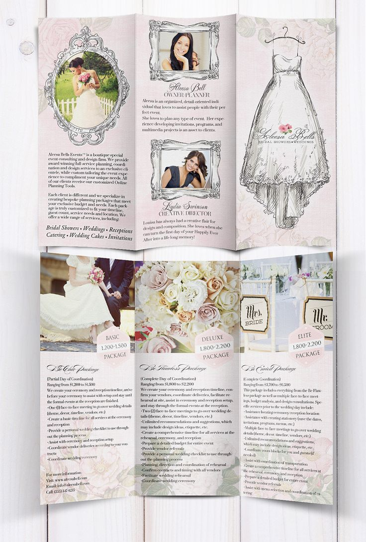 10 best images about wedding leaflet ideas on pinterest party planning template and free. Black Bedroom Furniture Sets. Home Design Ideas
