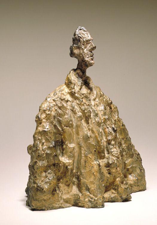 Alberto Giacometti, (Swiss, 1901 – 1966), Diego in a Cloak (Diego au manteau), 1954 Painted bronze, 15 1/8 x 13 1/2 x 8 3/4 inches
