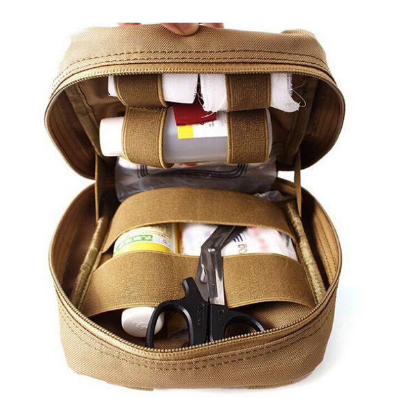 MenOutdoorTacticalPouchMolleEDC Utility Gadget Cinto Cintura Bolsa Bolsa de primeiros socorros