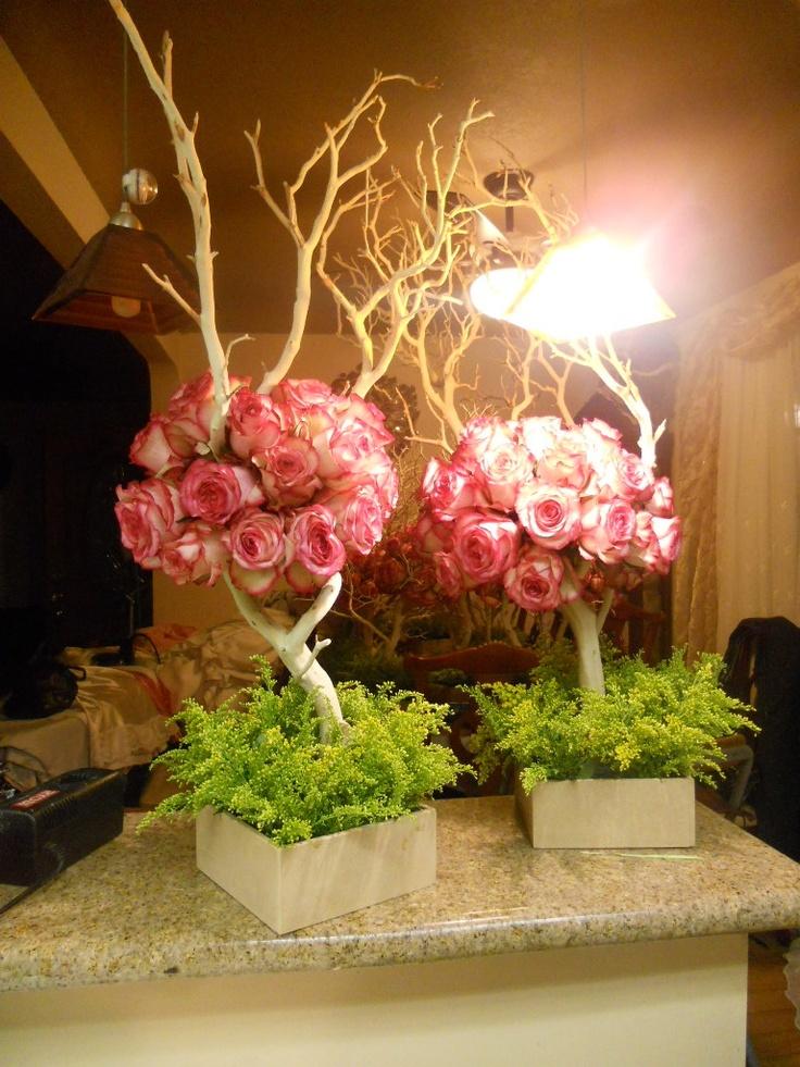 quinceaera or sweet 16 centerpieces