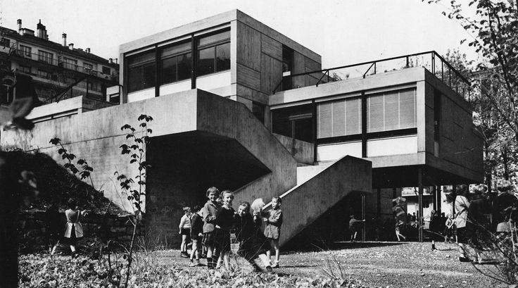 French Primary School, Geneva, Switzerland, 1962, (Candilis, Josic, Woods with Arthur Bugna)