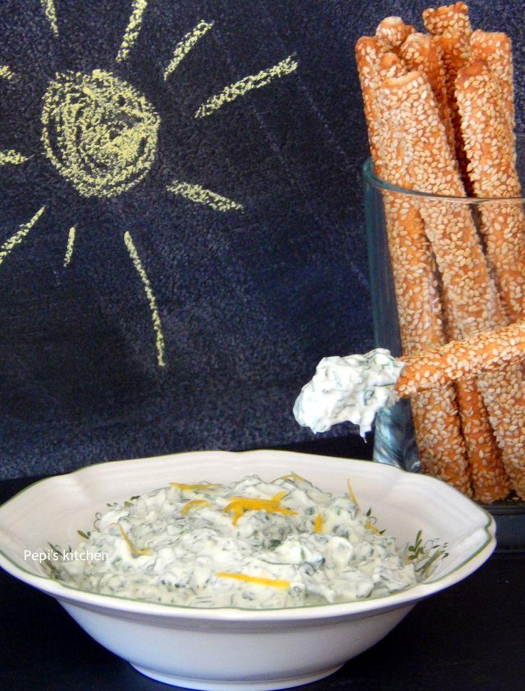 Greek Yogurt Dip with Herbs http://pepiskitcheninenglish.blogspot.gr/2014/07/greek-yogurt-dip-with-herbs.html
