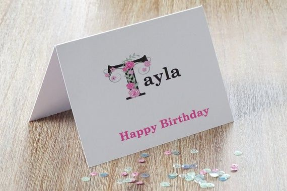 Who Does Not Love Receiving A Personalised Birthday Card This Beautiful Flor Personalized Birthday Cards Personalized Birthday Gender Reveal Party Decorations