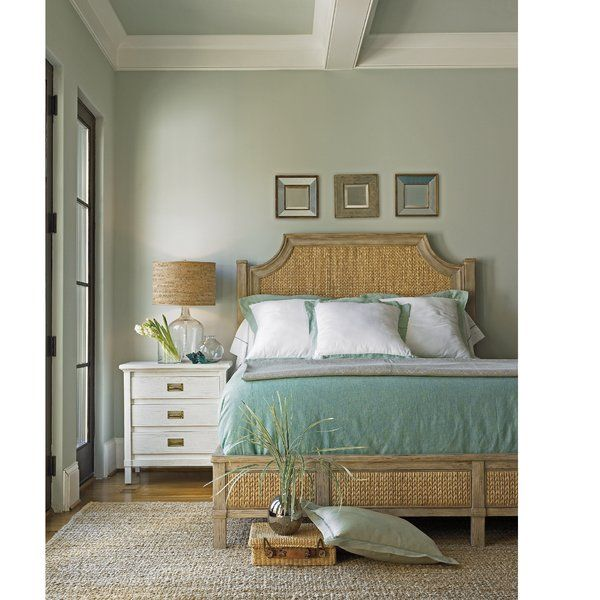 American-made home furnishings create the Panel Bed. Melding a more tropical island vibe with the sun-bleached charm of the coast state-side, the Panel Bed doesn't shy away from its surf inspired roots. The headboard and frame combine woven water hyacinth with a wood frame featuring natural finish for a final product that is as relaxing as it is beautiful. No matter where you are in the world, you will hear the sounds of the waves when you rest your head on this bed at night.