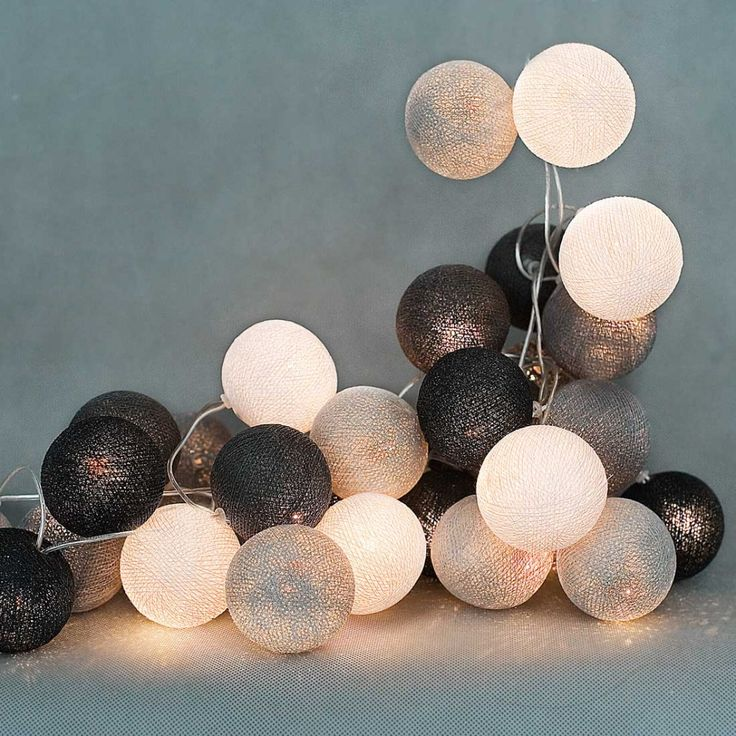 35 kul Grey Shadow Cotton Ball Lights ScandiShop.pl - Skandynawskie Inspiracje