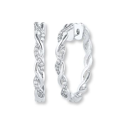 Need An Earring Upgrade Embellish Your Outfit With These Shimmering Diamond Hoops