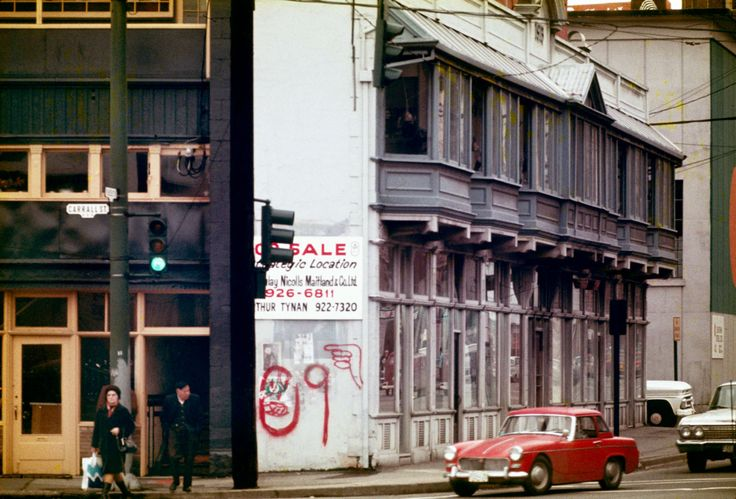 Sam Kee building, November 1972. The skinniest building in the world at Carrall and West Pender streets. Source: City of Vancouver Archives #780-446