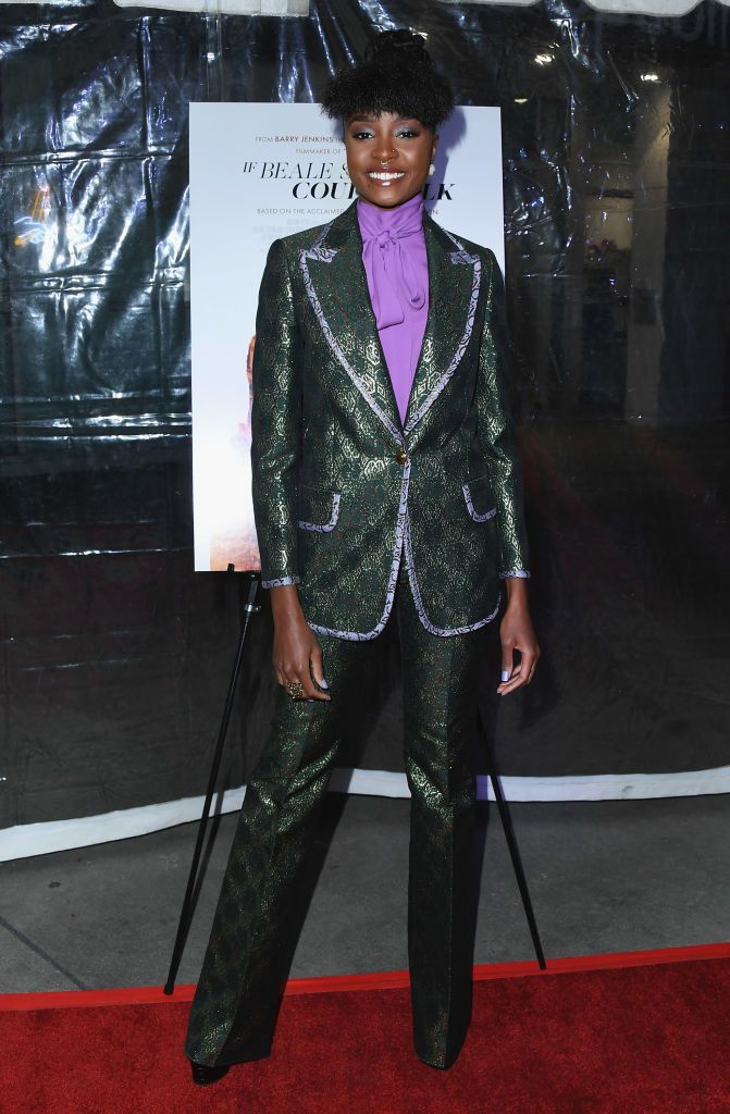 26 Stunning Red Carpet Looks That Ll Make You Say I See You Kiki Layne Red Carpet Fashion Suits For Women Red Carpet Looks